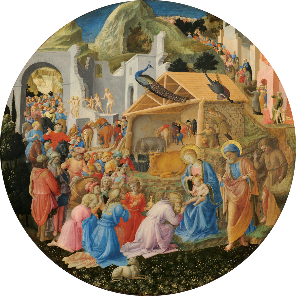 Fra Angelico and Fra Filippo Lippi (Italian, c. 1395 - 1455 ), The Adoration of the Magi, c. 1440/1460, tempera on panel. Washington, National Gallery, Samuel H. Kress Collection. Photo: National Gallery