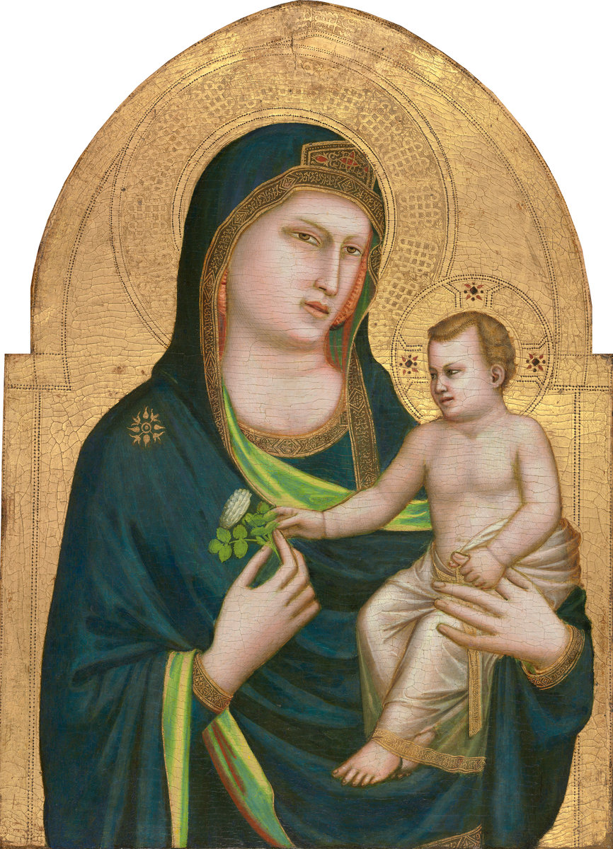 Giotto (Italian, probably 1266 - 1337 ), Madonna and Child, probably 1320/1330, tempera on panel. Washington, National, Samuel H. Kress Collection. Photo: National Gallery.