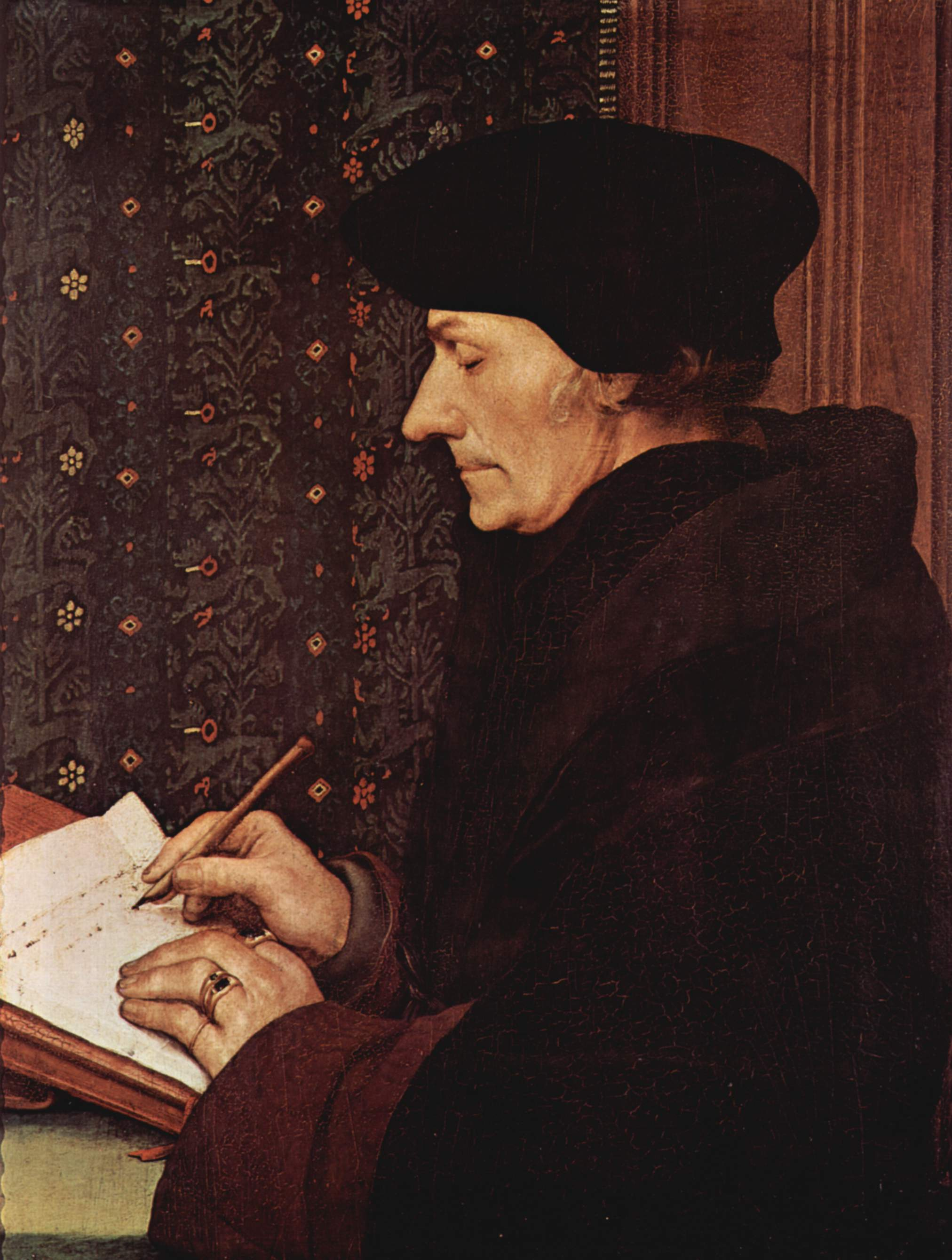 Holbein the Younger, Erasmus, 1523 (Louvre)