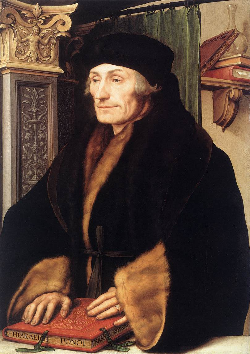 Holbein the Younger, Erasmus, 1523 (National Gallery, London - photo Web Gallery of Art)