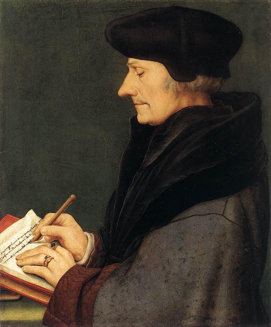 Holbein the Younger, Erasmus, 1523 (Kunstmuseum, Öffentliche Kunstsammlung, Basel - Web Gallery of Art)