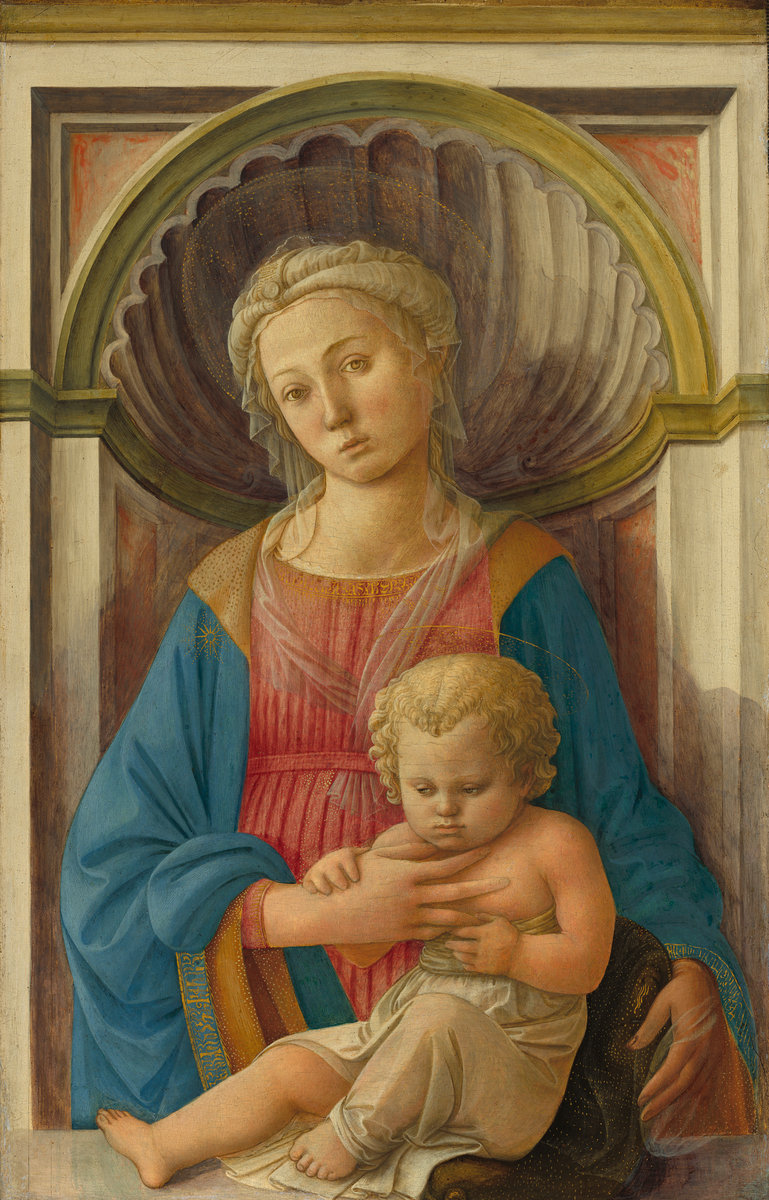 Fra Filippo Lippi (Italian, c. 1406 - 1469 ), Madonna and Child, c. 1440, tempera on panel. Washington, National Gallery, Samuel H. Kress Collection