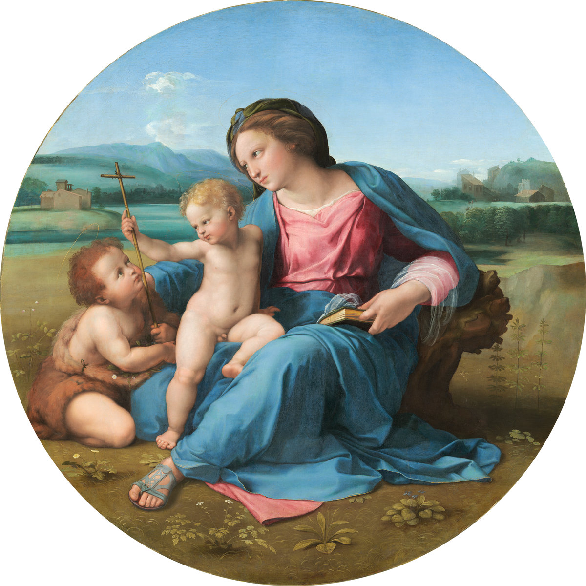Raphael (Italian, 1483 - 1520 ), The Alba Madonna, c. 1510, oil on panel transferred to canvas. Washington, National Gallery, Andrew W. Mellon Collection. Photo: National Gallery