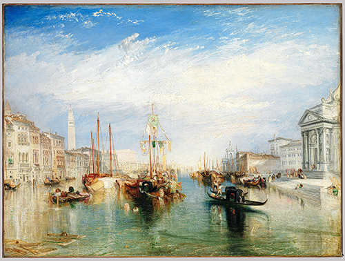 Joseph Mallord William Turner, Venice, from the Porch of Madonna della Salute, ca. 1835. Oil on canvas 36 x 48 1/8 in. (91.4 x 122.2 cm). Metropolitan Museum of Art, Bequest of Cornelius Vanderbilt, 1899 (99.31). Photo: MetMuseum.org