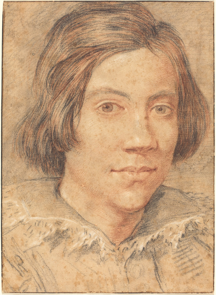 Gian Lorenzo Bernini (Italian, 1598 - 1680 ), Portrait of a Young Man, c. 1615, black and red chalk heightened with white chalk. Washington, National Gallery, Ailsa Mellon Bruce Fund. Photo: National Gallery