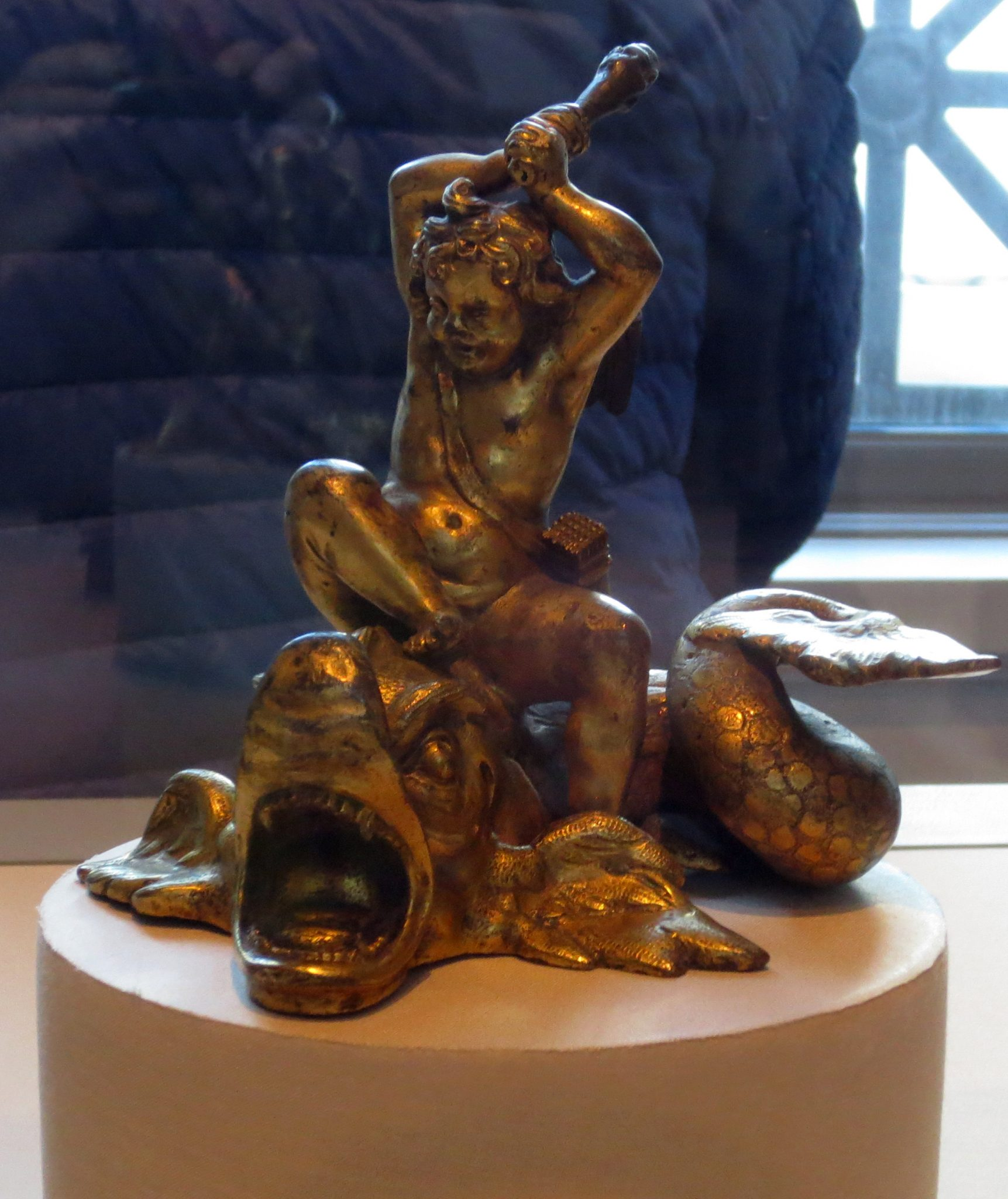 Venetian, Cupid on a Dolphin, late 16th or early 17th century. On loan by the Louvre to Washington's National Gallery. Photo: Dianne L. Durante
