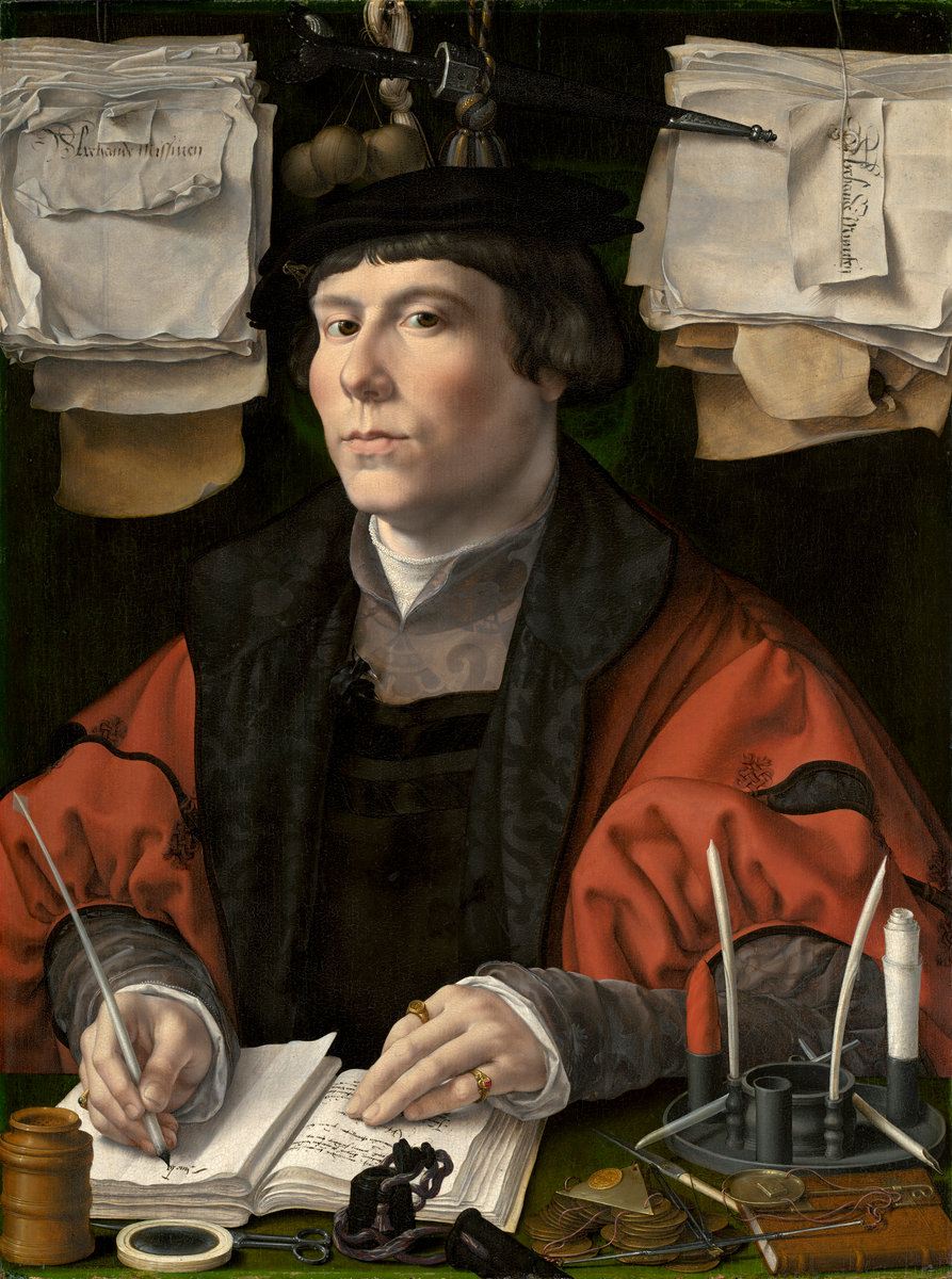 Jan Gossaert (Netherlandish, c. 1478 - 1532 ), Portrait of a Merchant, c. 1530, oil on panel. Washington, National Gallery, Ailsa Mellon Bruce Fund. Photo: National Gallery
