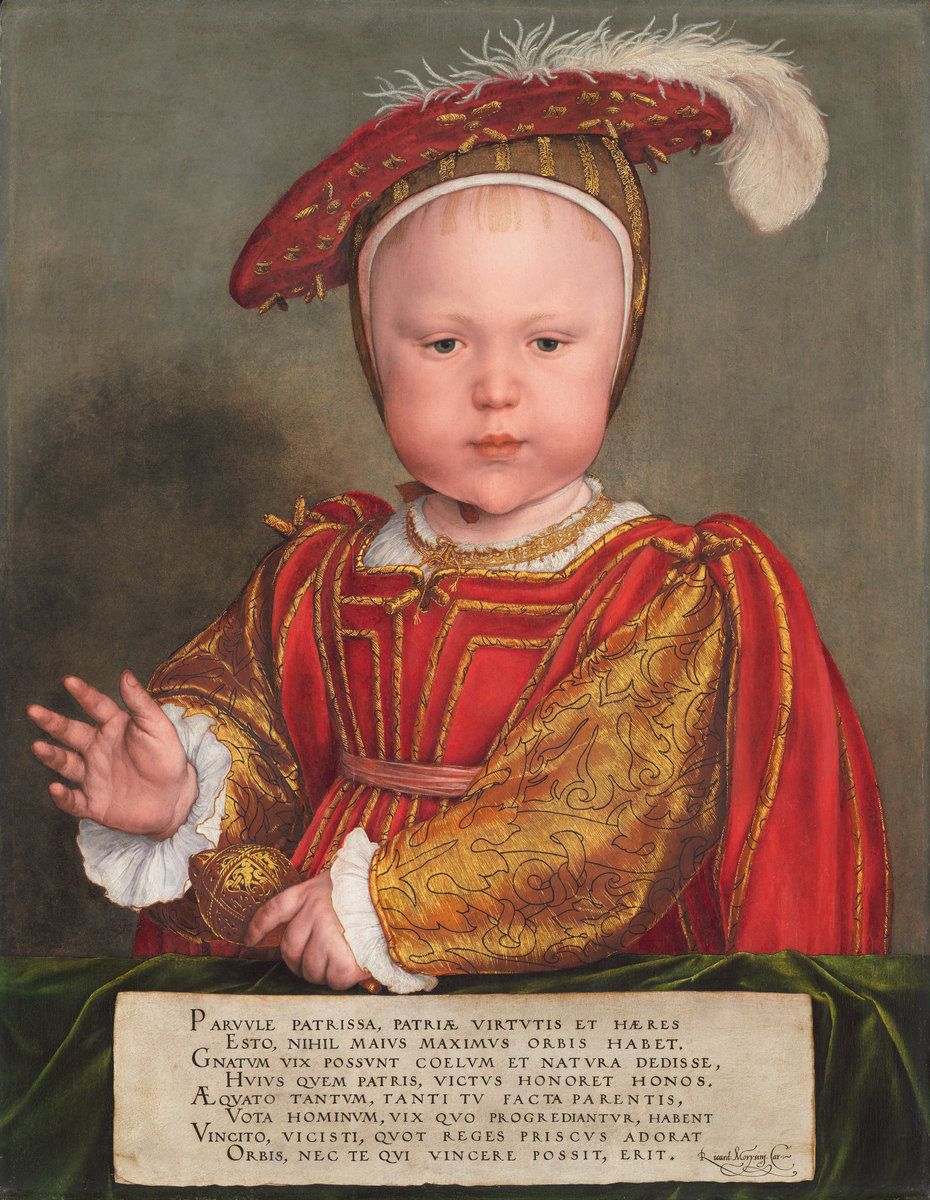 Hans Holbein the Younger (German, 1497/1498 - 1543 ), Edward VI as a Child, probably 1538, oil on panel. Washington, National Gallery, Andrew W. Mellon Collection. Photo: National Gallery