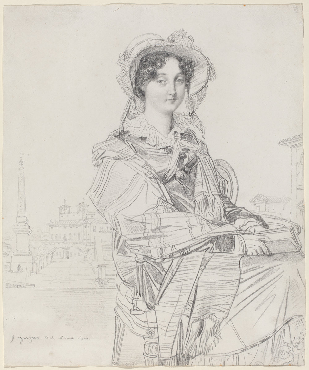 Jean-Auguste-Dominique Ingres (French, 1780 - 1867 ), Mrs. Charles Badham, 1816, graphite on wove paper. Washington, National Gallery, The Armand Hammer Collection