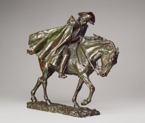Jean-Louis-Ernest Meissonier, Horseman in a Storm, French, 1815 - 1891, model c. 1878, cast after 1894, bronze. Washington, National Gallery, Collection of Mr. and Mrs. Paul Mellon. Photo: National Gallery