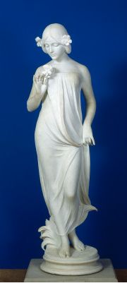 Pittaluga Italian, active 1915 Nymph of the Fields 1915 marble overall: 169.3 x 49 x 49.5 cm (66 5/8 x 19 5/16 x 19 1/2 in.). Washington, National Gallery of Art, Gift of the Honorable W.S. Stuckey, Jr.1975.101.1