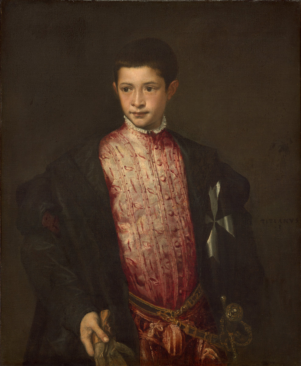 Titian (Italian, c. 1490 - 1576 ), Ranuccio Farnese, 1542, oil on canvas. Washington, National Gallery, Samuel H. Kress Collection. Photo: National Gallery