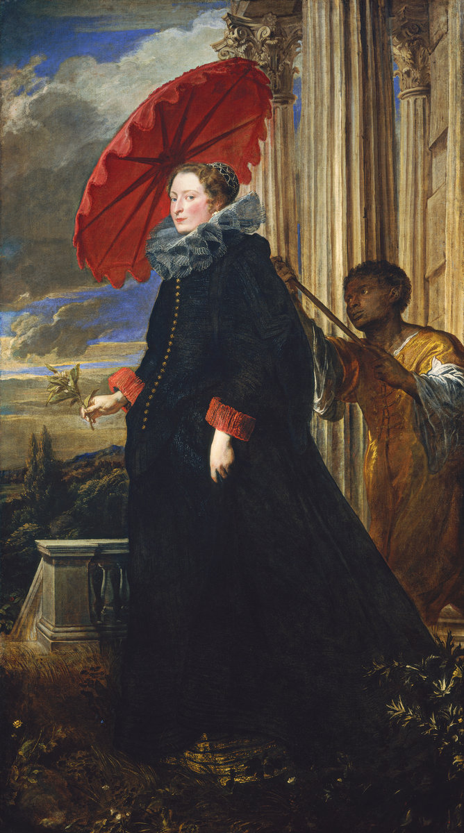 Sir Anthony van Dyck (Flemish, 1599 - 1641 ), Marchesa Elena Grimaldi Cattaneo, 1623, oil on canvas. Washington, National Gallery, Widener Collection