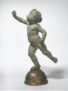 Andrea del Verrocchio, Putto Poised on a Globe, Italian, 1435 - 1488, probably 1480, unbaked clay. Washington, National Gallery, Andrew W. Mellon Collection. Photo: National Gallery