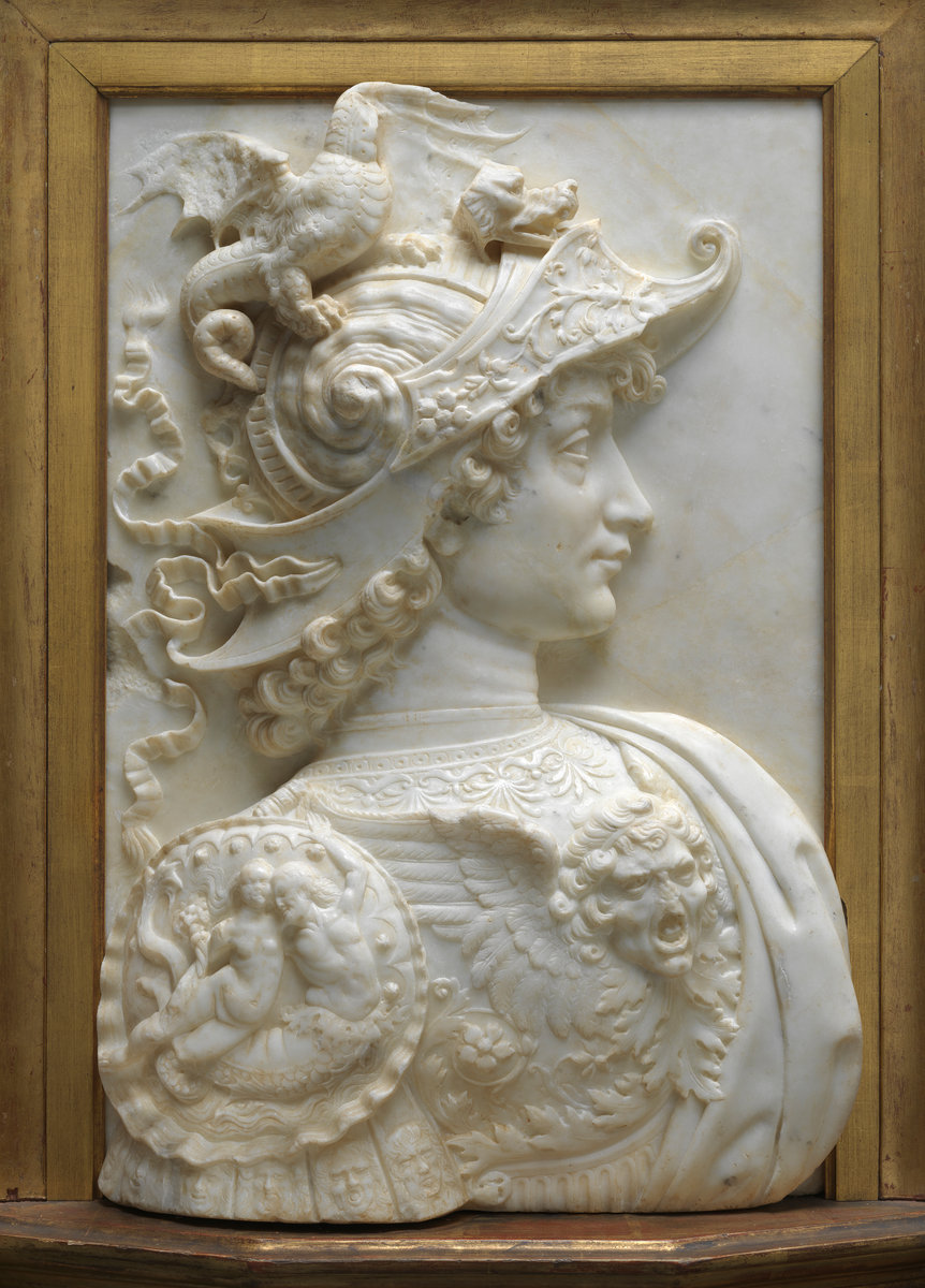 Workshop of Andrea del Verrocchio, Alexander the Great, , c. 1483/1485, marble. Washington, National Gallery, Gift of Therese K. Straus. Photo: National Gallery