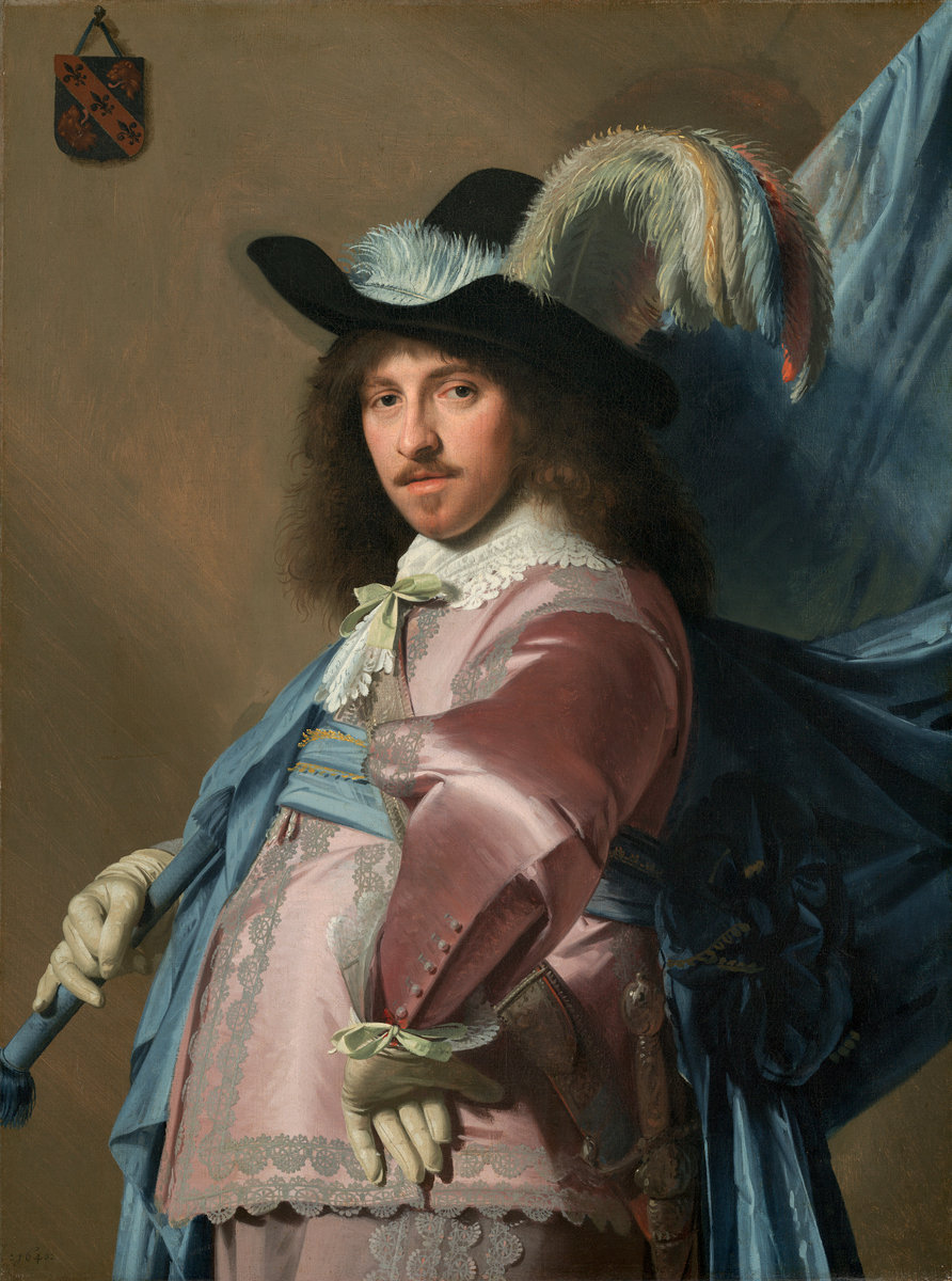 Johannes Cornelisz Verspronck (Dutch, 1606/1609 - 1662 ), Andries Stilte as a Standard Bearer, 1640, oil on canvas. Washington, National Gallery, Patrons' Permanent Fund. Photo: Natiional Gallery