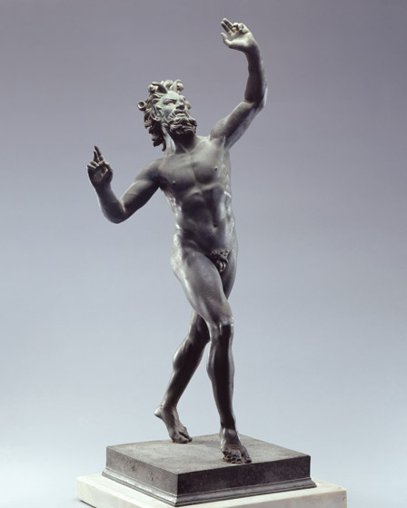 Dancing Faun (Pan), c. 125 - 100 BC; bronze and silver. Lent by The National Archeological Museum, Naples (MANN). Photo: WNG site.