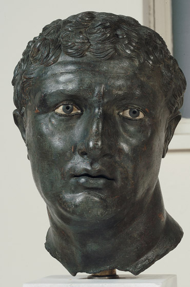 Portrait of a Man, c. 100 BC; bronze, copper, glass, and stone. Lent by the Hellenic Ministry of Culture, Education, and Religious Affairs, The National Archaeological Museum, Athens. Photo: National Gallery site.