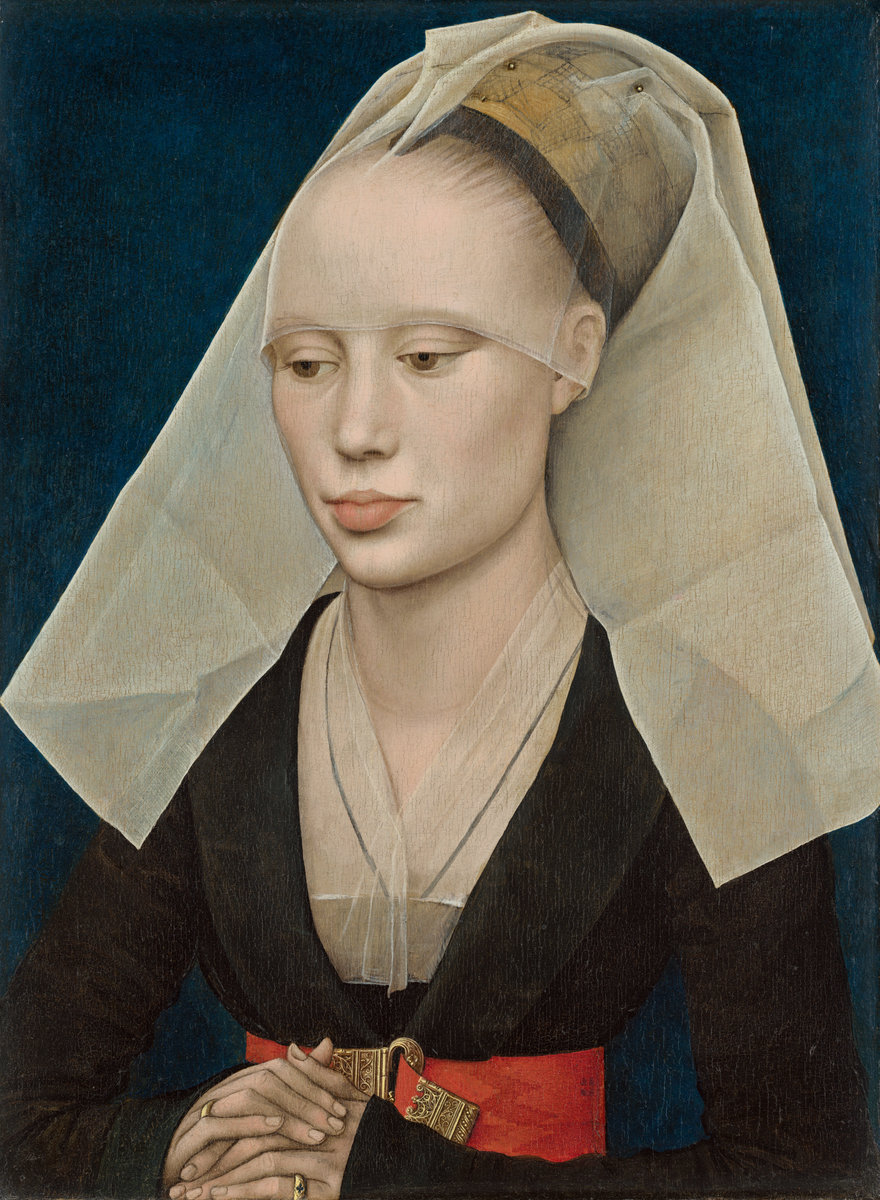 Rogier van der Weyden (Netherlandish, 1399/1400 - 1464 ), Portrait of a Lady, c. 1460, oil on panel. Washington, National Gallery, Andrew W. Mellon Collection