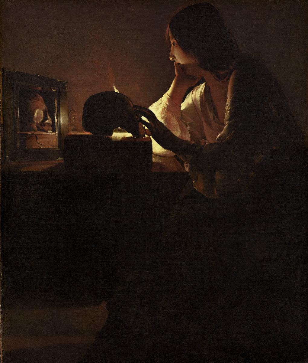 Georges de La Tour (French, 1593 - 1652 ), The Repentant Magdalen, c. 1635/1640, oil on canvas. Washington, National Gallery, Ailsa Mellon Bruce Fund