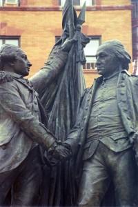 Bartholdi, Lafayette and Washington. 1890. (Photo (c) Dianne L. Durante 2012)