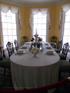 Dining room at the Grange. Photo (c) 2014 Dianne L. Durante