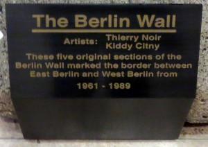 Plaque in lobby of 520 Madison Ave., New York.