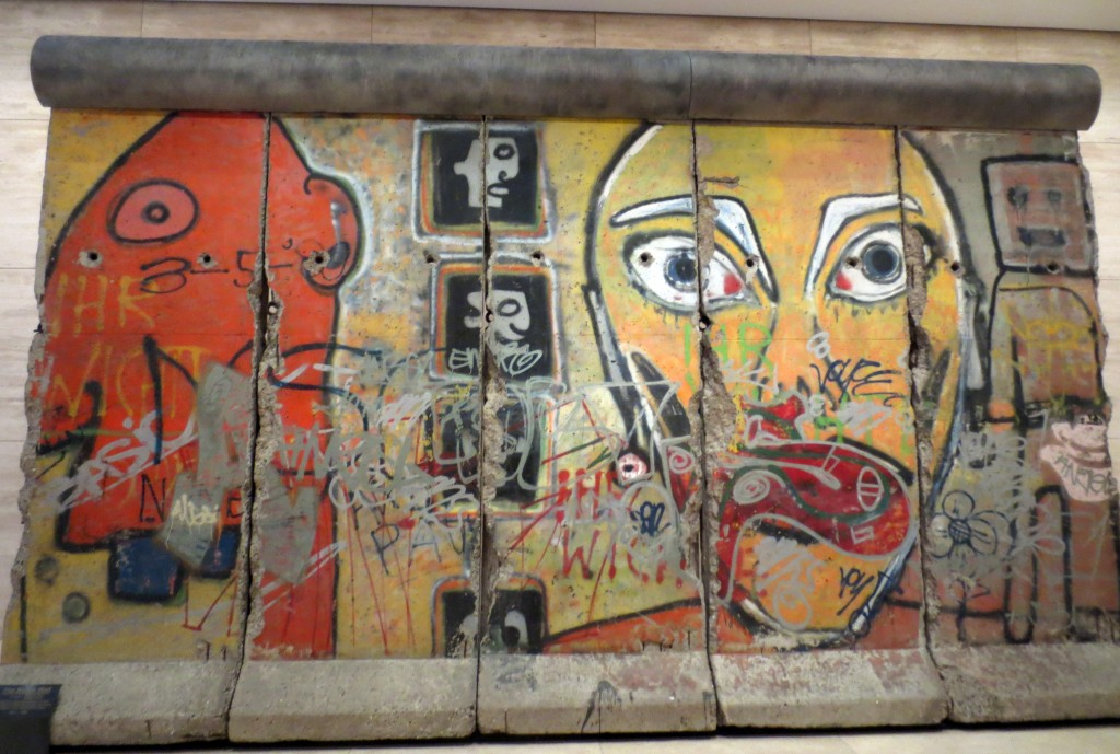 Segments of the Berlin Wall at 520 Madison Ave., New York. Photo: Dianne L. Durante