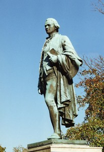 Franklin Simmons, Alexander Hamilton, 1905-06. Great Falls Overlook Park, Paterson NJ. Photo: Smithsonian Institution via Wikimedia.
