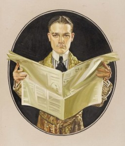 J.C. Leyendecker, ad for Arrow Shirts, 1920s.
