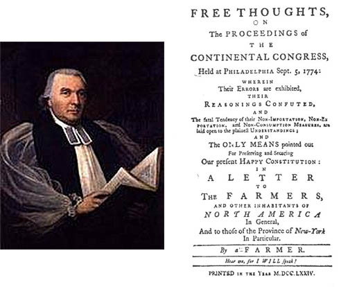Rev. Samuel Seabury, and his Free Thoughts, 1774.