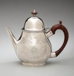 Teapot by Kiliaen Van Rensselaer, ca. 1690. Photo: New-York Historical Society