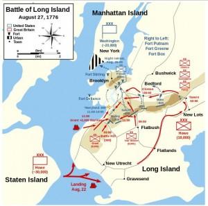 Battle of Long Island, August 27, 1776. Image: Wikipedia