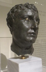 Head found at Delos, bronze with inlaid eyes, 1st c. BC. Athens, National Museum. Photo: Dianne L. Durante