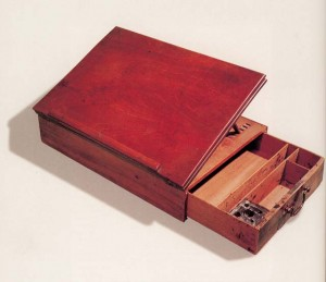 Jefferson's portable writing desk, on which he drafted the Declaration of Independence, 1776. Smithsonian Institution. Photo: Wikipedia