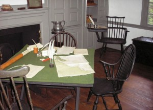 Washington's study at the Ford Mansion in Morristown, NJ, his headquarters from December 1779 to June 1780. Photo: Wikipedia