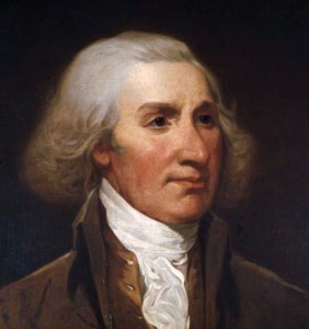 Philip Schuyler. Mirror-image copy of a portrait of Philip Schuyler. Painted by Jacob H. Lazarus (1822-91) from a miniature painted by John Trumbull. Image: Wikipedia