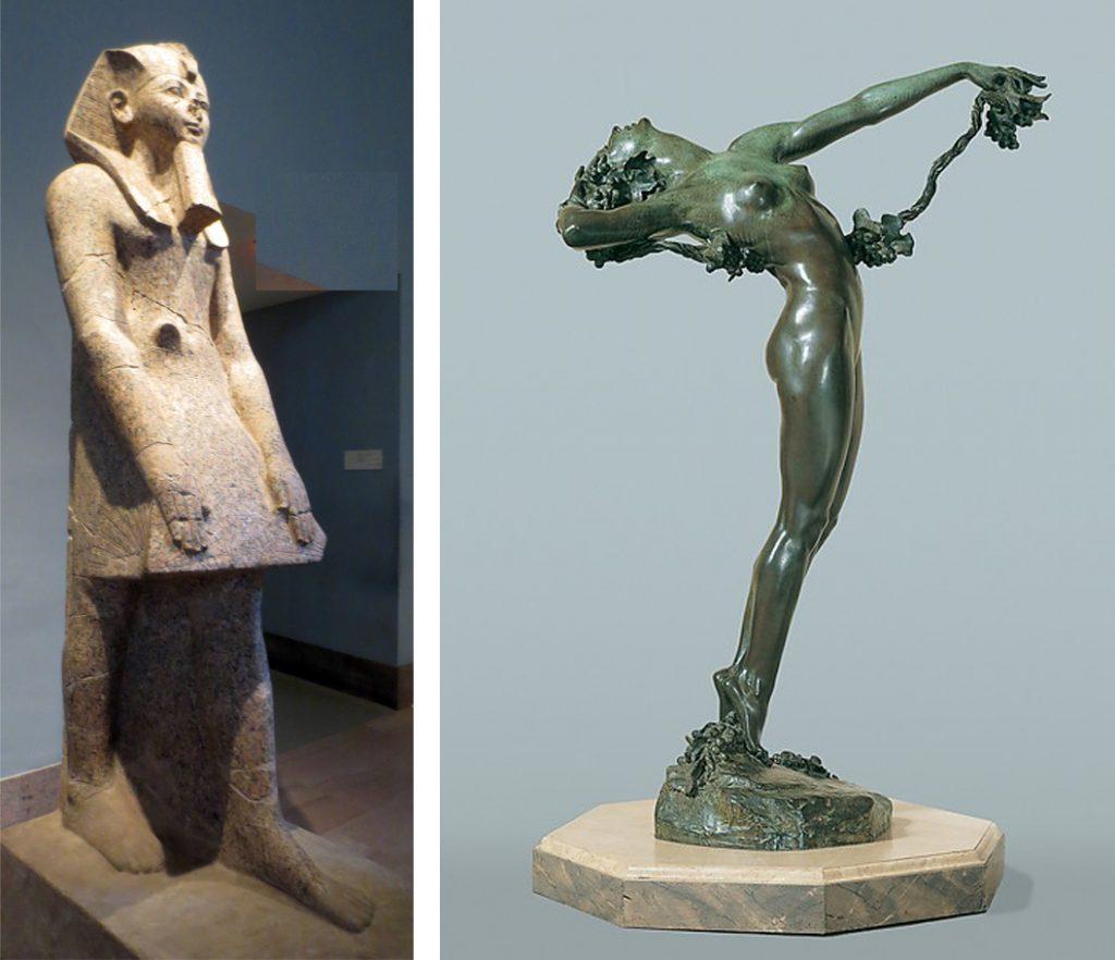 Hatshepsut, ca. 1479-1458 BC. Metropolitan Museum of Art, Rogers Fund, 1928. Harriet Whitney Frishmuth, The Vine, 1921.Metropolitan Museum of Art, Rogers Fund, 1927. Photos: MetMuseum.org