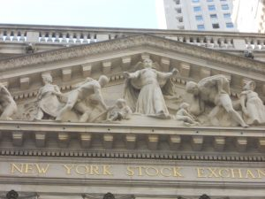 New York Stock Exchange pediment, center. Photo copyright (c) Dianne L. Durante 2016.