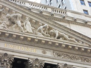 New York Stock Exchange pediment, right side. Photo copyright (c) Dianne L. Durante 2016.