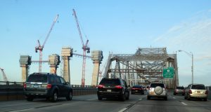 New Tappan Zee Bridge under construction, 5/22/2016. Photo (c) Dianne L. Durante