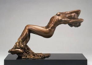 Michael Wilkinson, Morning Light. Bronze. 13 inches wide x 20 inches high. Photo (c) Michael Wilkinson.