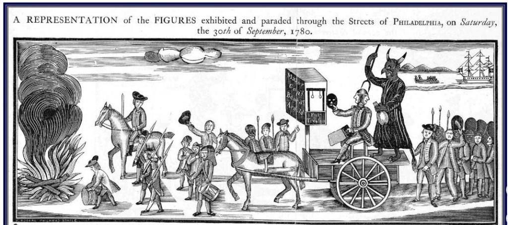 Benedict Arnold effigy at Philadelphia, 1780