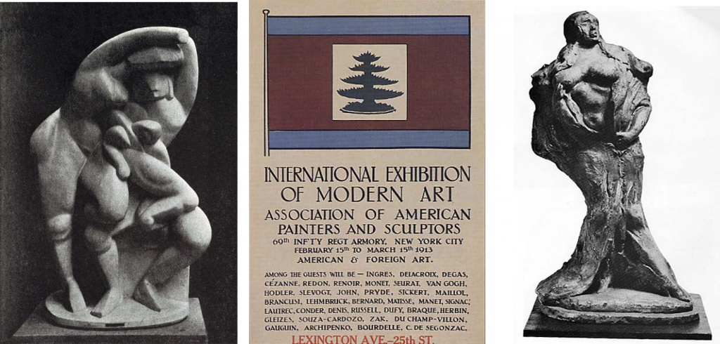 From the 1913 Armory Show: sculptures by Archipenko and Lachaise