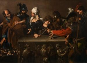 Valentin de Boulogne, Denial of St. Peter, ca. 1615-1617. Fondazione di Studi di Storia dell'Arte Roberto Longhi, Florence. Photo: MetMuseum.org