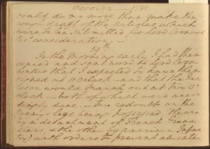 Washington's diary for October 19, 1781. Image: Library of Congress