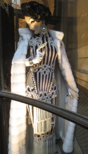 Balmain evening gown at Bergdorf's.